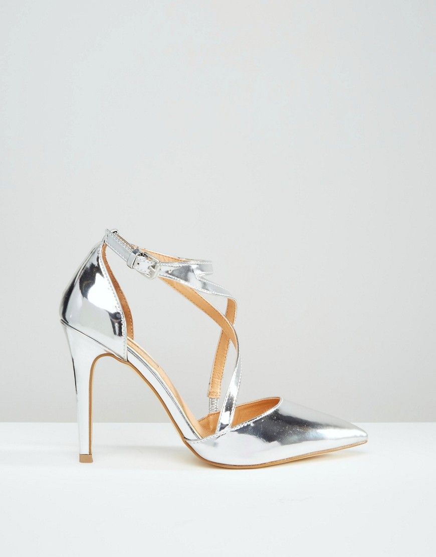 Miss KG Shelby Cross Strap Point Heeled Shoes at asos.com