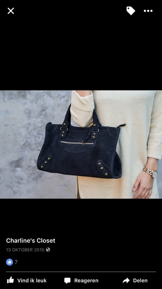 bag handbag black bag suede bag