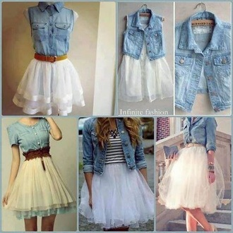 skirt tulle skirt white blouse