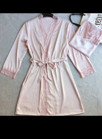 romper pink it's lace soft pink lingerie lace silk baby pink lingerie