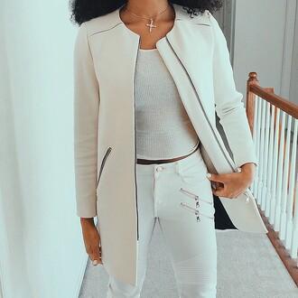 jacket white jacket all white everything