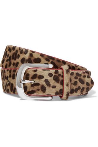 hair belt print leopard print