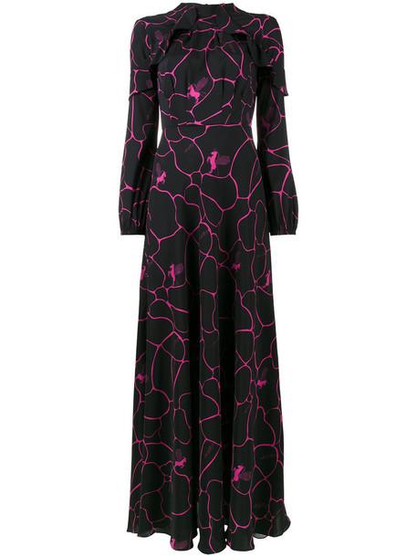 Navro dress maxi dress maxi unicorn women spandex water black silk