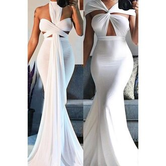 dress white maxi dress trendy girly classy gorgeous rose wholesale-ma