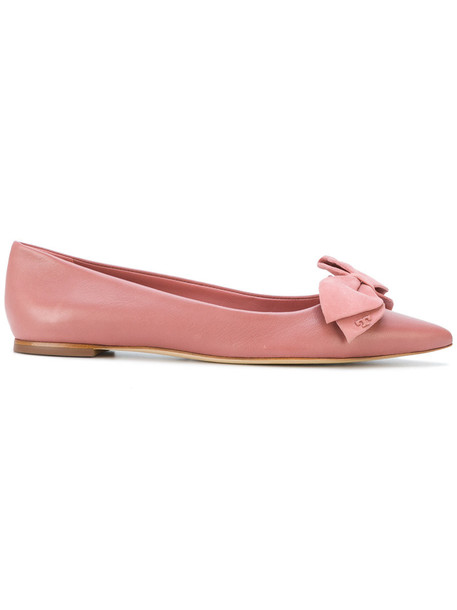Tory Burch bow women leather purple pink shoes