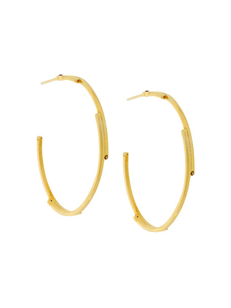 Charlotte Valkeniers women earrings hoop earrings gold silver grey metallic jewels