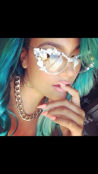 sunglasses white pearl