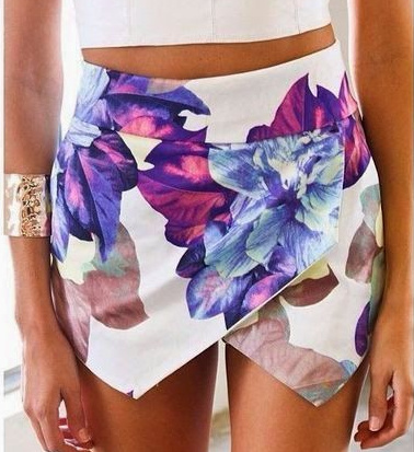 Exotic Floral Print White Skort Skirt · Fashion Struck · Online Store Powered by Storenvy