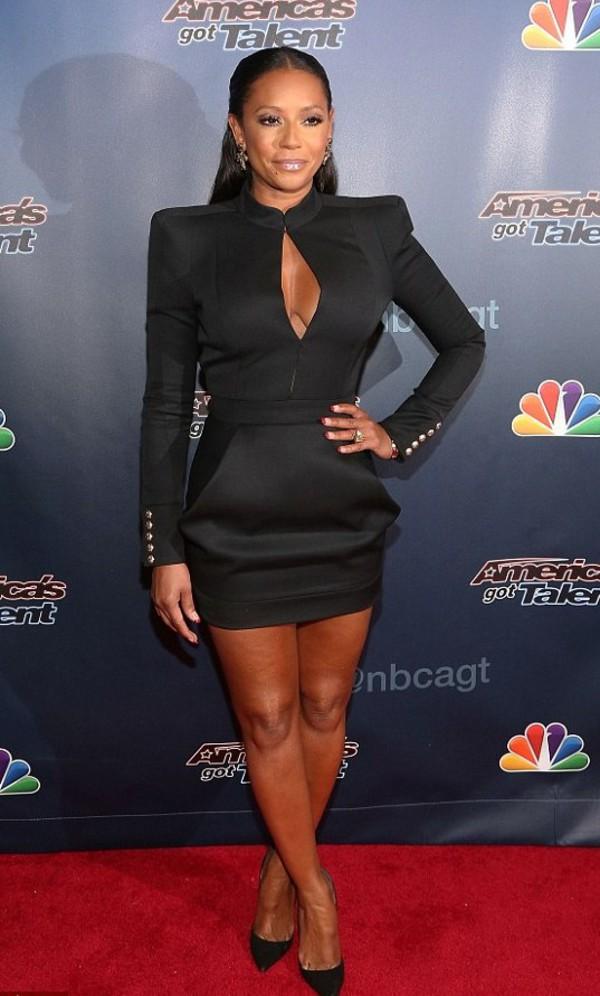 mel b black dress dress