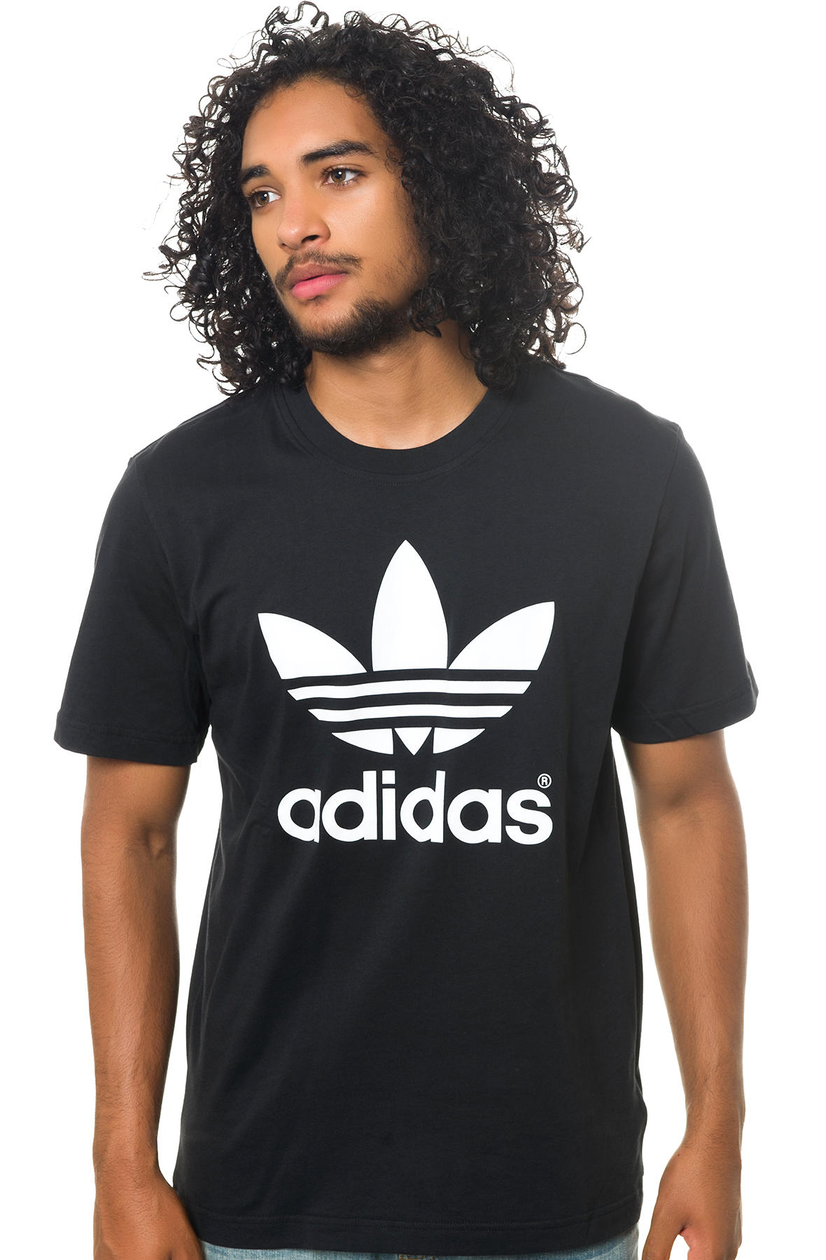 adidas Tee The Mirror Trefoil Logo in Black & White