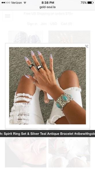 jewels arm cuff teal bracelets bracelets accessories boho jewelry