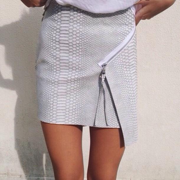skirt skirt grey reptile print