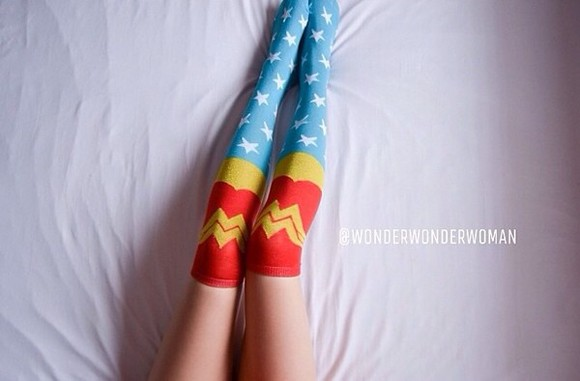wonder woman underwear socks