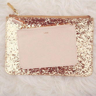 home accessory gold sequins pouch bag
