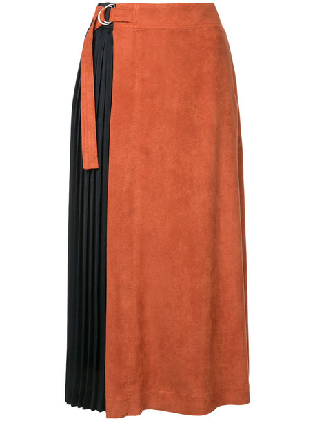 Guild Prime skirt midi skirt pleated women midi yellow orange