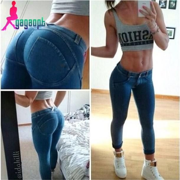 Womens Blue Jean Shirt