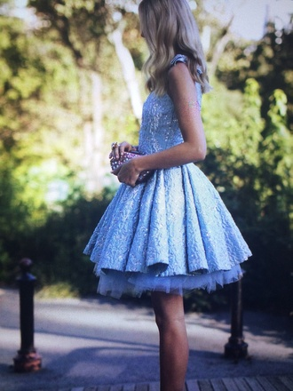 short prom dress blue dress jacquard tulle skirt graduation dress pll ice ball birthday dress