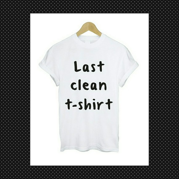 printed white t-shirt funny text shirt with text