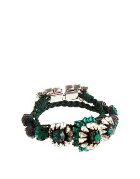 Shourouk | Shourouk Baraka Rococo Emerald Rainbow Bracelet at ASOS