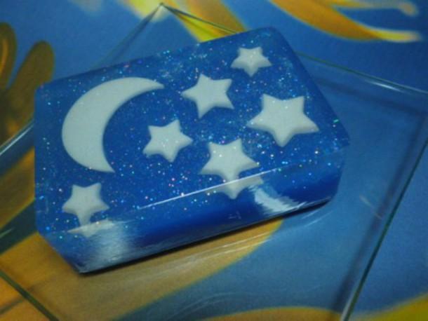 home accessory soap cool stars moon blue cosmetics