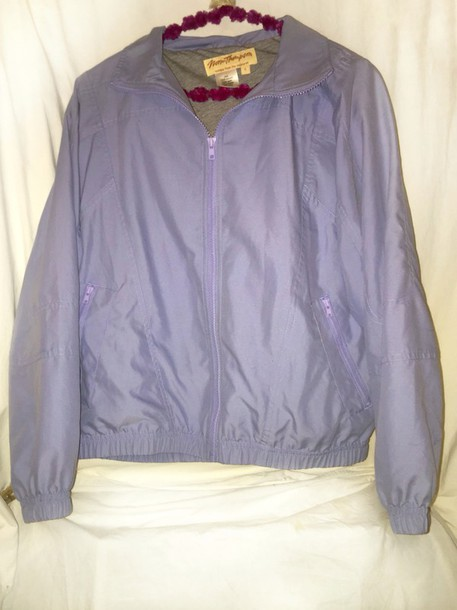 Jacket: pastel purple windbreaker lavender grunge tumblr