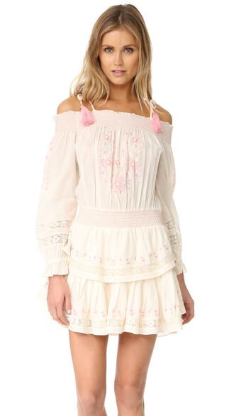 dress mini dress mini ruffle cream