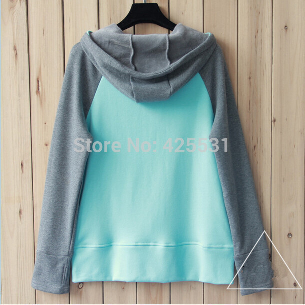 High Quality Women Autumn Jacket, New Brand Wommen Zip Hoodies, 2 Color Patchwork Sweatshirts-in Hoodies & Sweatshirts from Apparel & Accessories on Aliexpress.com | Alibaba Group