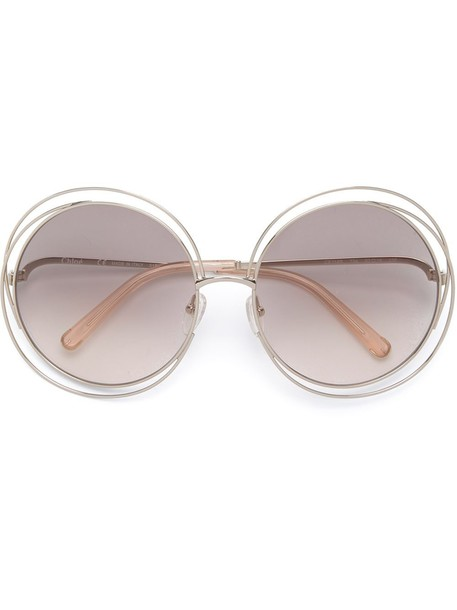 Chloé Eyewear 'Carlina' sunglasses - Metallic