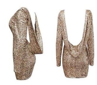gold sequins party dress