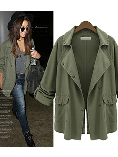 Airy light weight army green military style jacket