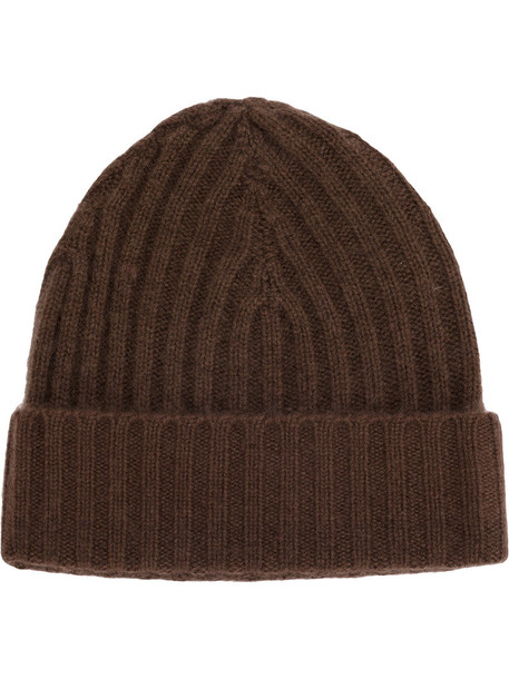 Warm-Me women hat beanie knitted beanie brown
