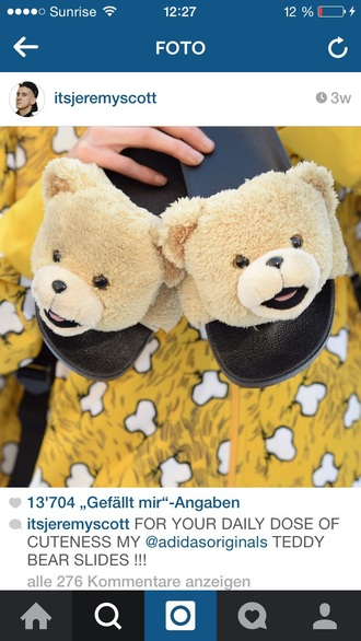 shoes teddy black adidas bear beige