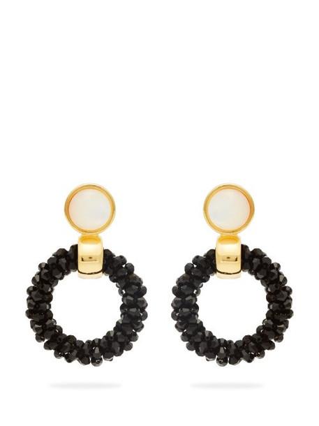 Lizzie Fortunato - Brancusi Hoop Earrings - Womens - Black