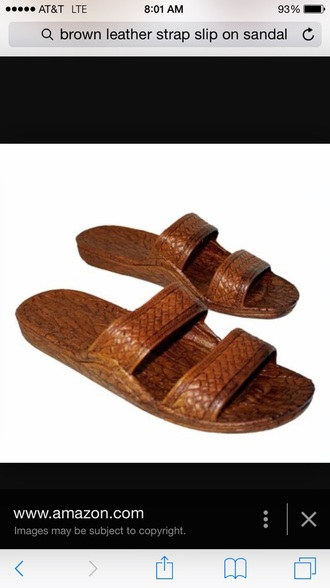 shoes brown strap sandals slide shoes flat sandals jesus shoes jesus sandals