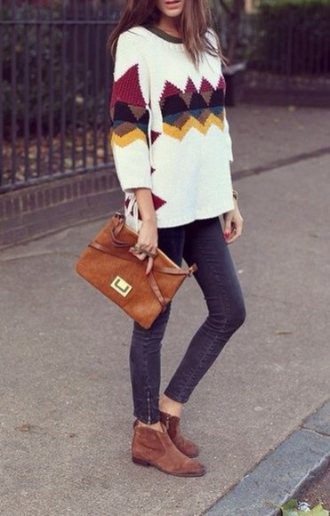 triangle white skinny pants boots shoes