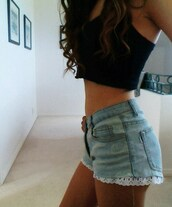 shorts,lace,denim,white,eyelit