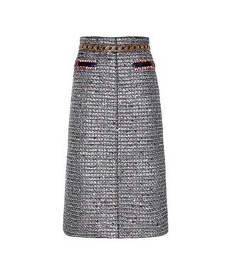 skirt metallic skirt metallic embellished blue