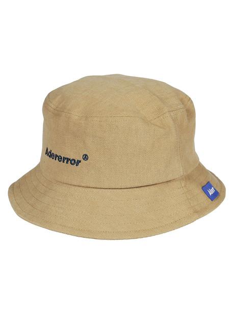 Ader Error Embroidered Logo Hat in beige / beige