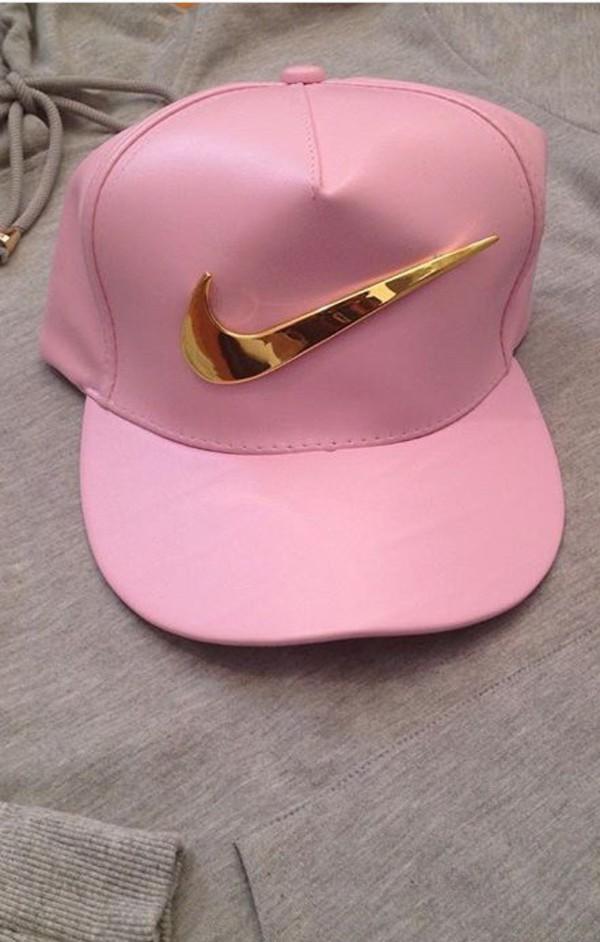 Hat Nike Cap Gold Pink Pink Nike Hate Pastel Urban