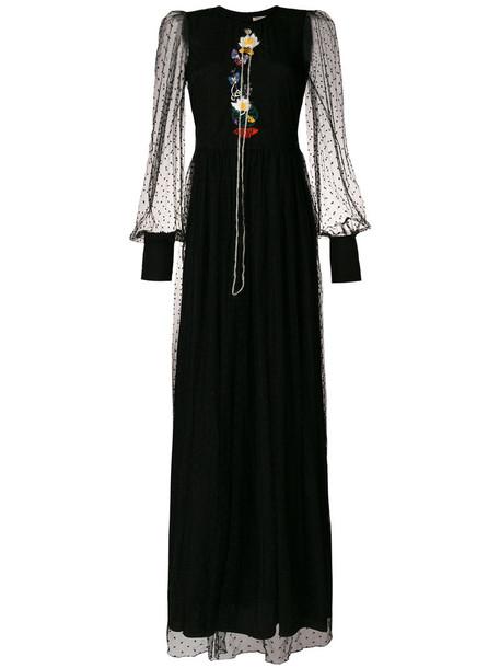 PICCIONE.PICCIONE dress maxi dress maxi embroidered women black silk