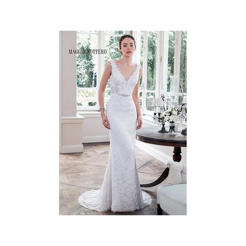 de novia de Maggie Sottero Modelo Pierce - 2016 Recta Pico Vestido ...