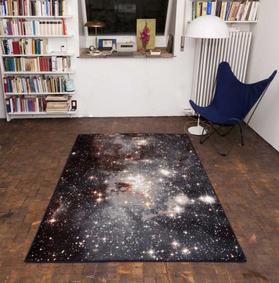 stars home decor galaxy print rug