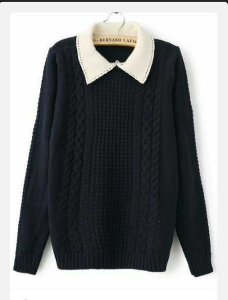 blouse collar sweater cute