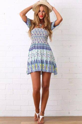 dress summer dress beach dress print dress