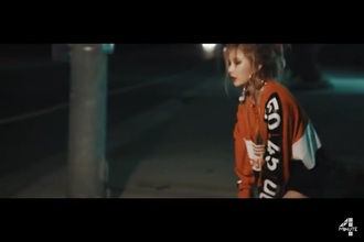 sweater kpop sweater hyuna orange k-pop kpop idol