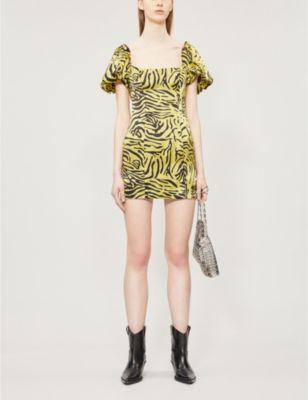 DE LA VALI Koko silk-satin dress