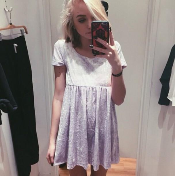 dress purple grunge hipster spring babydoll dress