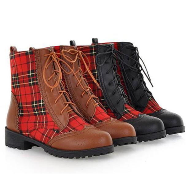 shoes boot lapel lace up