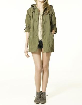 jacket khaki green camouflage