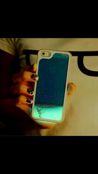 phone case iphone 5 case neon glitter